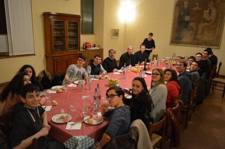 cena con vescovo